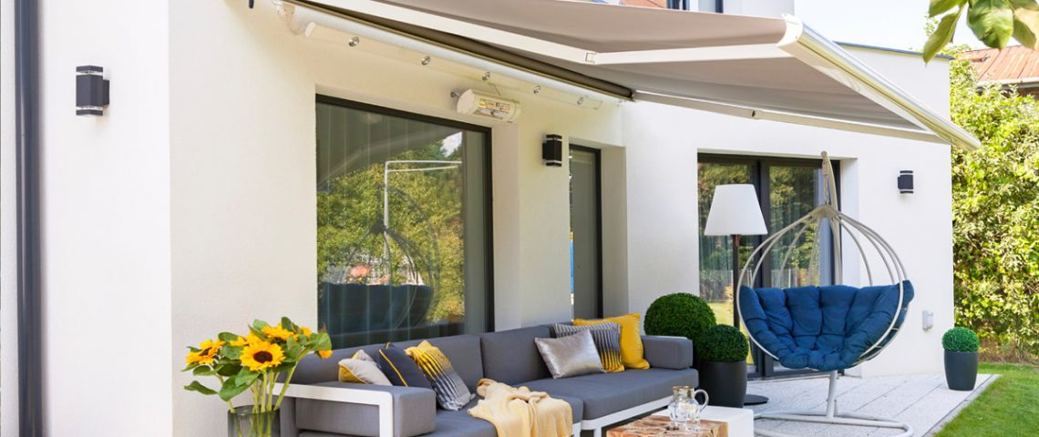 Motorised folding arm awning 2 - Love Blinds & Awnings