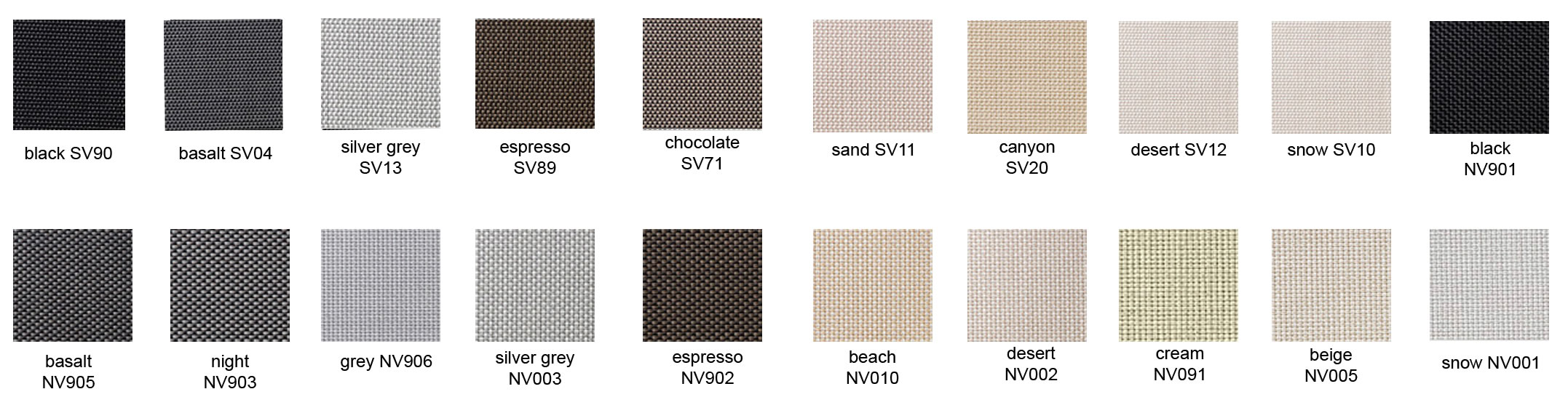 S-View sunscreen patterns - Love Blinds & Awnings