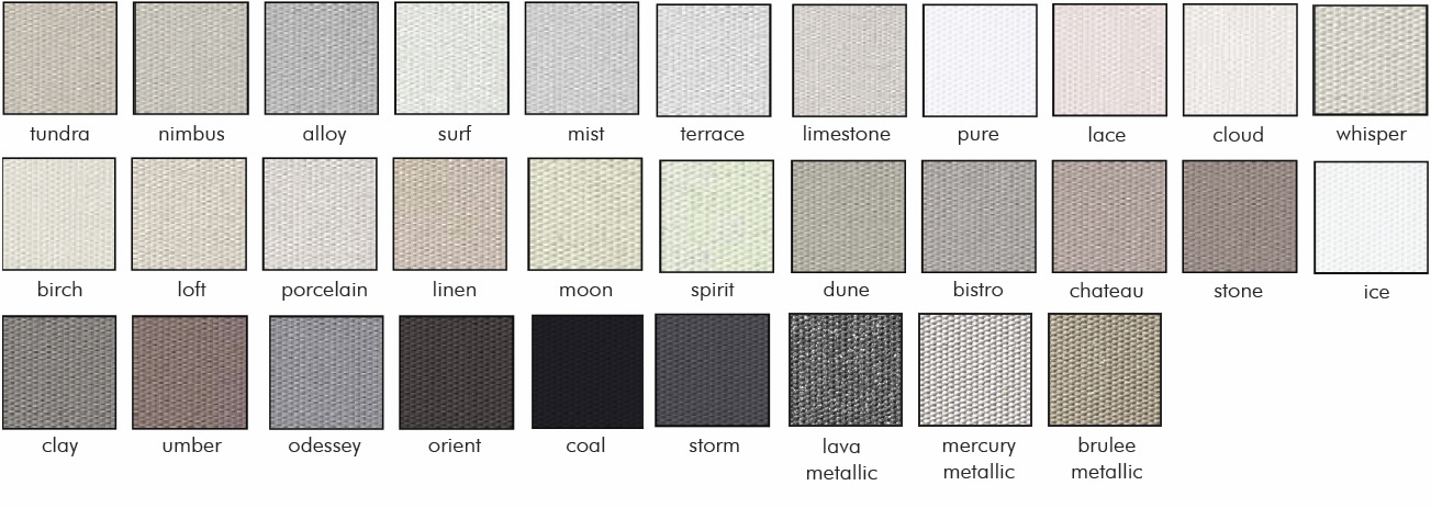 vibe blockout swatches - Love Blinds & Awnings